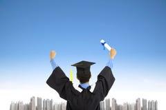 Succesvolle een diploma behalende student Royalty-vrije Stock Fotografie