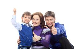 Succesvolle familie stock afbeelding