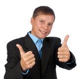 Succesvolle glimlachende zakenman royalty-vrije stock foto