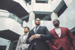 Succesvolle groep bedrijfsmensen op het kantoor Royalty-vrije Stock Afbeeldingen