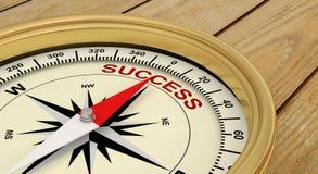 Succesvolle het succes slaagt kompas royalty-vrije stock afbeelding