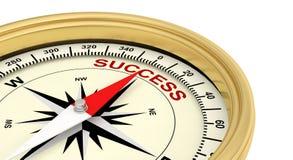 Succesvolle het succes slaagt kompas stock foto