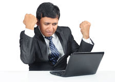 Succesvolle Indische zakenman Royalty-vrije Stock Afbeeldingen