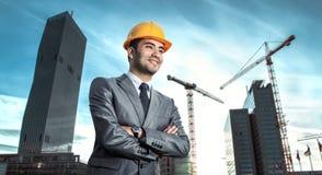 Succesvolle ingenieur of architect Royalty-vrije Stock Foto
