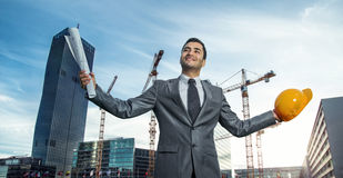 Succesvolle ingenieur of architect Royalty-vrije Stock Afbeelding