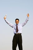 Succesvolle jonge bedrijfsmens stock foto's