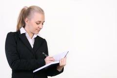 Succesvolle jonge bedrijfsvrouw Stock Afbeeldingen