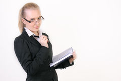 Succesvolle jonge bedrijfsvrouw Royalty-vrije Stock Afbeeldingen