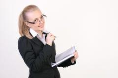Succesvolle jonge bedrijfsvrouw Stock Foto