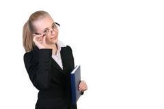 Succesvolle jonge bedrijfsvrouw Stock Fotografie