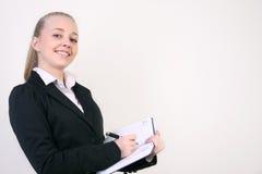 Succesvolle jonge bedrijfsvrouw Stock Foto's