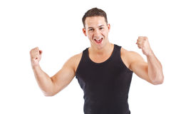 Succesvolle jonge sportman Royalty-vrije Stock Foto