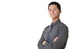 Succesvolle jonge zakenman stock foto