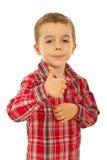 Succesvolle kindjongen Royalty-vrije Stock Fotografie