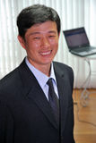 Succesvolle manager in het bureau. royalty-vrije stock afbeelding
