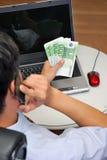 Succesvolle manager in het bureau. royalty-vrije stock foto's