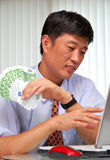 Succesvolle manager in het bureau Stock Afbeelding