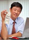 Succesvolle manager in het bureau Royalty-vrije Stock Foto's