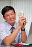 Succesvolle manager in het bureau Royalty-vrije Stock Foto