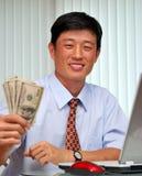 Succesvolle manager in het bureau Stock Foto's