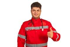 Succesvolle paramedicusmens royalty-vrije stock afbeeldingen