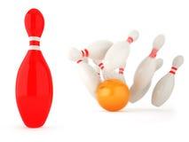 Succesvolle rode kegel Stock Afbeelding