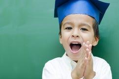 Succesvolle Schooljongen Stock Foto