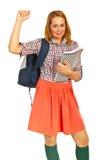 Succesvolle studentenvrouw Royalty-vrije Stock Afbeelding