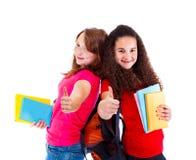 Succesvolle tienerjaren met boeken Stock Foto