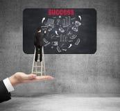 Succesvolle van de bedrijfs zakenmantekening grafiek Royalty-vrije Stock Fotografie