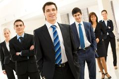 Succesvolle werkgever Stock Foto