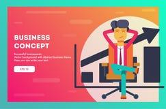 Succesvolle zakenman Vector illustratie stock illustratie