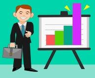 Succesvolle zakenman in verkoop Stock Foto
