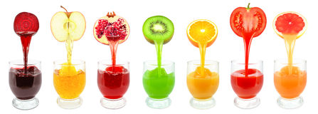 Succhi di frutta Fotografia Stock Libera da Diritti