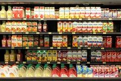 Succhi di frutta Fotografia Stock