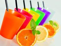 Succhi di rinfresco dell'arancia e del limone Fotografia Stock