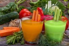 Succhi di verdura immagini stock