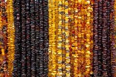 Succinite Collar ambarino Ámbar de diversos colores y tamaños Foto de archivo