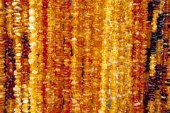 Succinite Collar ambarino Ámbar de diversos colores y tamaños Fotos de archivo