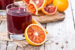 Succo casalingo dell'arancia sanguinella Fotografia Stock Libera da Diritti