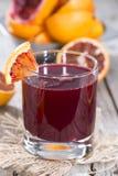 Succo casalingo dell'arancia sanguinella Fotografia Stock