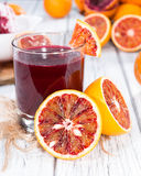 Succo casalingo dell'arancia sanguinella Fotografie Stock