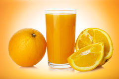 Succo d'arancia con l'arancia Immagine Stock Libera da Diritti