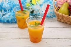 Succo d'arancia con tapioca immagine stock libera da diritti