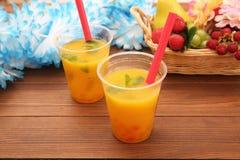 Succo d'arancia con tapioca fotografie stock libere da diritti