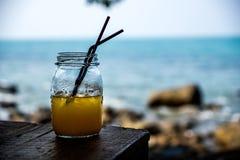 Succo d'arancia dall'oceano Immagini Stock Libere da Diritti