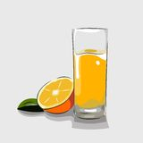 Succo d'arancia di vettore Fotografie Stock