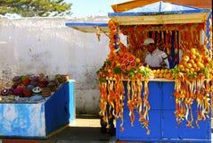 Succo d'arancia, Essaouira Immagini Stock