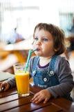 Succo d'arancia fresco Fotografie Stock