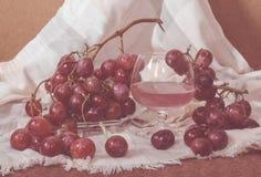 Succo d'uva rosso raffreddato Fotografia Stock